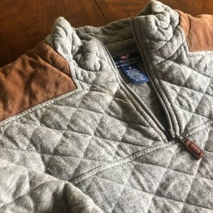 Vineyard Vines Quilted Suede Sheep Shirt